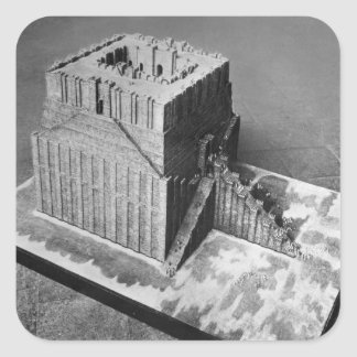 Reconstruction of the Tower of Babel Square Sticker