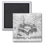 Reconstruction of Theleme Abbey 2 Inch Square Magnet