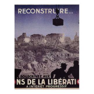 Reconstruya (1945) posters del _Propaganda Postal