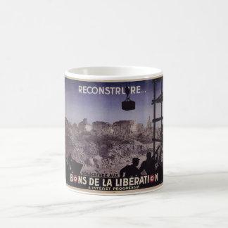 Reconstruya (1945) posters del _Propaganda Taza De Café