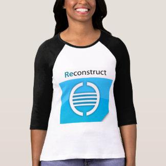 Reconstruya a las señoras del logotipo 3/4 raglán camisas