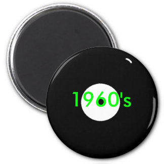 record 1960's 2 inch round magnet
