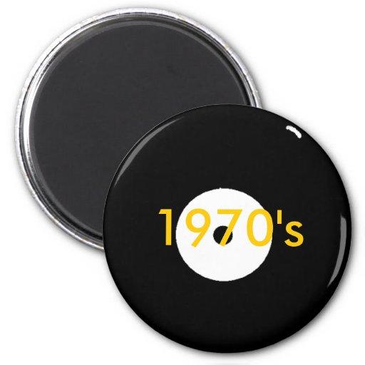 record, 1970's fridge magnets