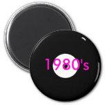 record, 1980's refrigerator magnets
