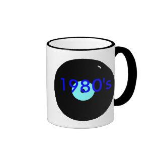 record, 1980's, ringer mug