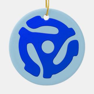 Record Adapter Ceramic Ornament