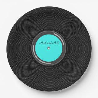 Record Album 9 Inch Paper Plate