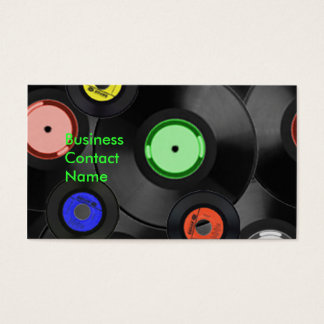Record Album Business Card