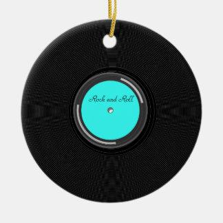Record Album Ceramic Ornament