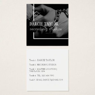 Record Album Cover Design Your Own Music Themed Square Business Card