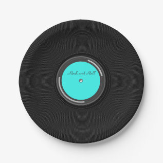 Record Album Paper Plate at Zazzle