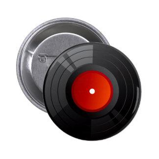RECORD ALBUM PINBACK BUTTON