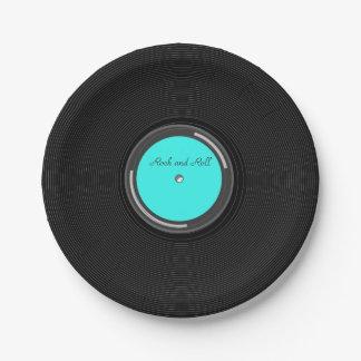 Record Album 7 Inch Paper Plate