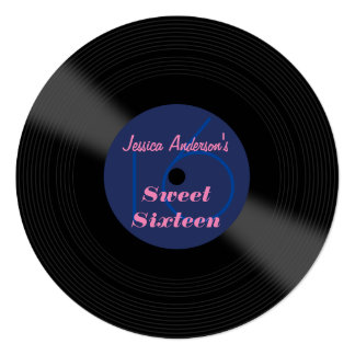Record Album Sweet Sixteen Card