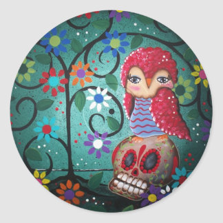Record Art By Lori Everett Classic Round Sticker