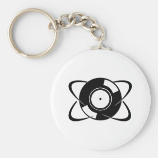 Record Atom Keychains