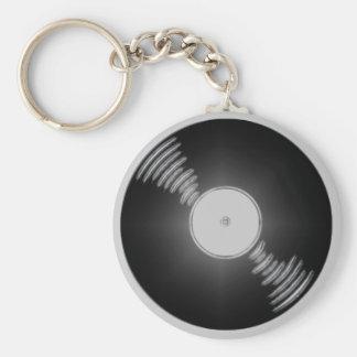 Record Basic Round Button Keychain