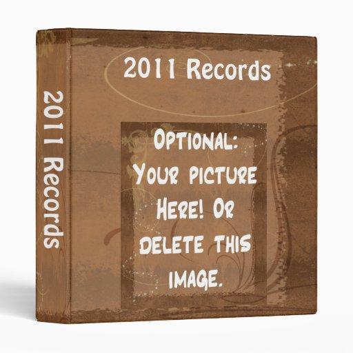 Record Binder Brown Background Customizable