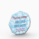 """Record Breaker Award<br><div class=""""desc"""">This award is a customizable template with a transparent graphic of broken ice / glass. Behind the graphic are the words &quot;Record Breaker&quot; which is also set as a text template. Additional text templates are included for the recipient and the record being broken. Design is also customizable if you wish...</div>"""