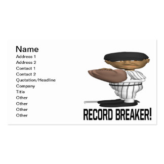 Record Breaker Business Card