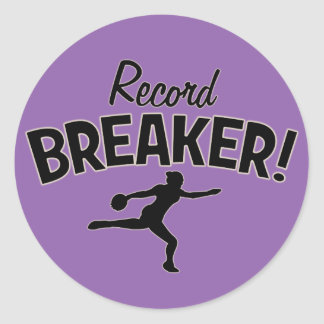 Record Breaker! Discus Throw Stickers