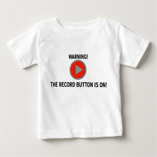 Record Button Baby T-Shirt