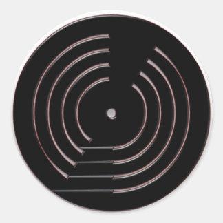 Record Classic Round Sticker