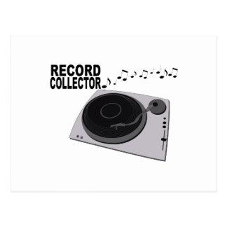 Record Collector Postcard