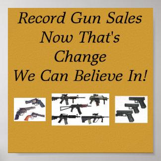 Record Gun Sales Poster