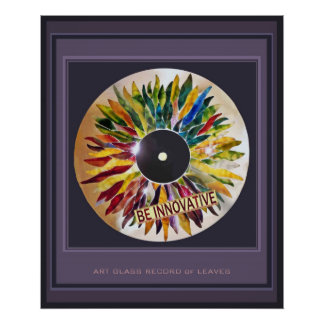Record Leaves Innovative Fashion Art Poster