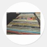 Record Mania Round Stickers