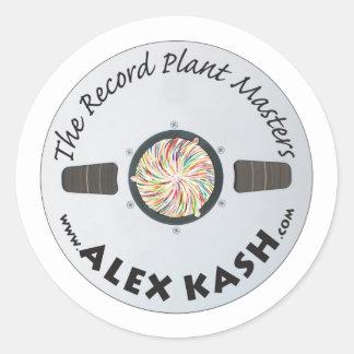 Record Plant Masters Classic Round Sticker