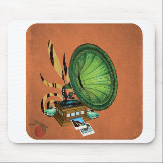 Record Player Collage Mouse Pad