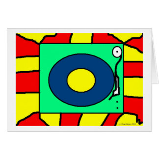 Record Player Greeting Card