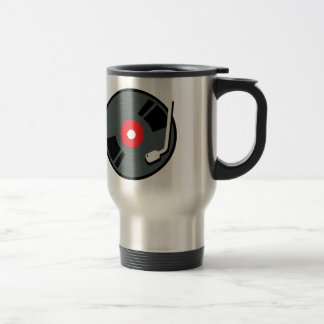 Record Player 15 Oz Stainless Steel Travel Mug
