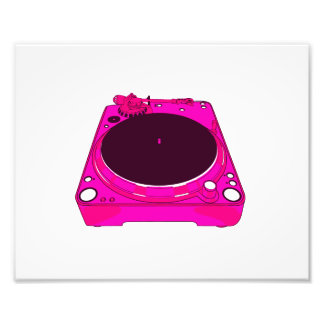 Record Player Pink Colour Graphic Photo Art