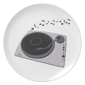 Record Player Party Plate
