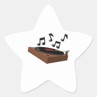 Record Player Star Sticker