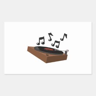 Record Player Rectangular Sticker