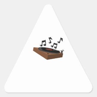 Record Player Triangle Sticker