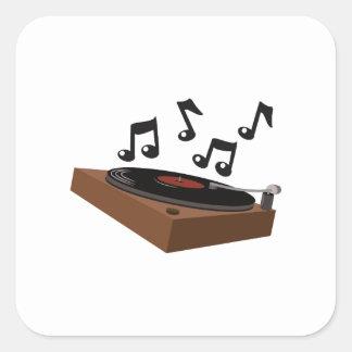 Record Player Square Sticker