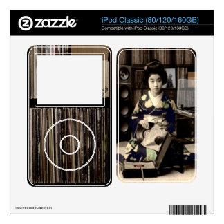 Record Rack Geisha Skins For iPod