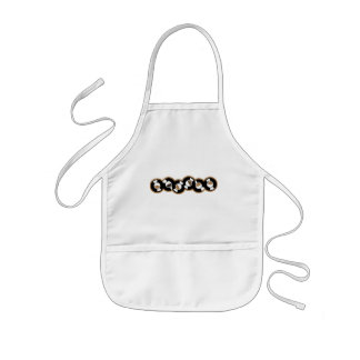 Record Row Brown - Orange Kids' Apron