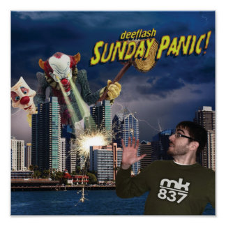 Record Sleeve Proof: Sunday Panic! Poster