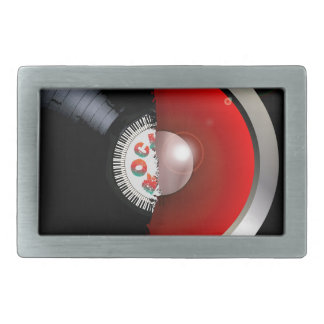 Record Speaker Rectangular Belt Buckle