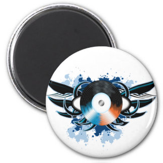 Record Tribal 2 Inch Round Magnet