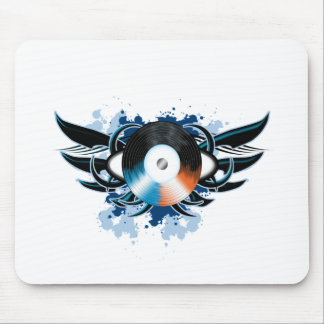 Record Tribal Mouse Pad
