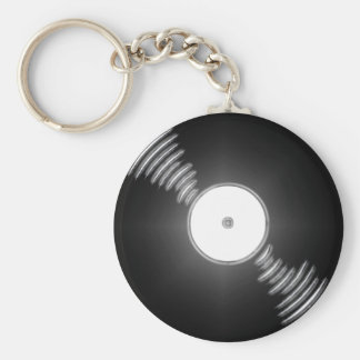 Record - You spin me right round baby Key Chain