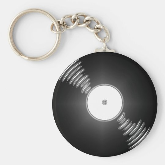 Record - You spin me right round baby Keychain