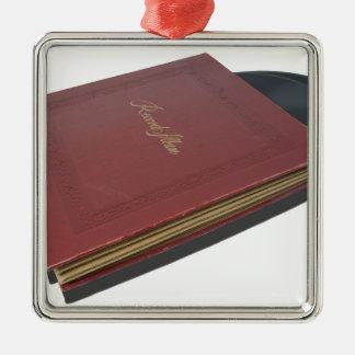 RecordAlbum061615.png Metal Ornament